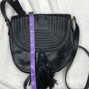 Fossil Bags - Fossil Black Leather Purse Cross Body